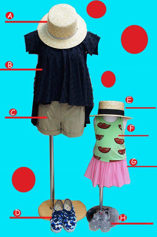 麦わら帽子で『THE☆夏~』なコーデに( *´艸`)♡♡