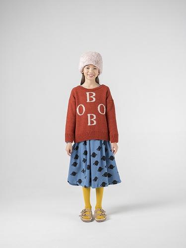 煉瓦色とロゴ使いが映える☆彡BOBO CHOSES(ボボショーズ)のあったセーター♡