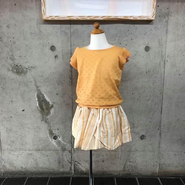 オレンジ色が華やか☆彡tocoto vintage(トコトヴィンテージ)のスカートとFUB (ファブ)の女の子コーデ♡